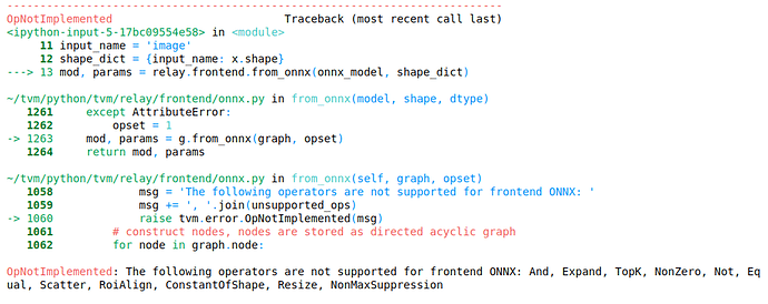 Error] [ONNX] Relay frontend from_onnx - Questions - TVM Discuss